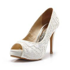 Miss Fabulosity,Ivory White Wedding Shoes,Ivory White Bridal Heels,Ivory White Satin Embroidery Lace Wedding Shoes by ChristyNgShoes on Etsy https://www.etsy.com/listing/198974383/miss-fabulosityivory-white-wedding