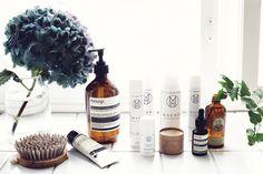 mia höytö cosmetics (+ a lovely hydrangea) // photo by Sara Karlsson Aesop, Minimalist Interior, Makeup Brands, Product Photography, Photography Ideas, Interior Styling, Hair Beauty, Chant, Skin Care