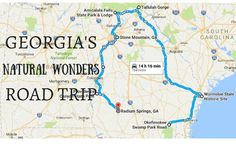 This Natural Wonders Road Trip Will Show You Georgia Like You've Never Seen It Before - Kathryn Clapsaddle - Nature travel Vacation Places, Vacation Trips, Day Trips, Vacations, Weekend Trips, Camping Places, Rv Camping, Camping Ideas, Vacation Spots