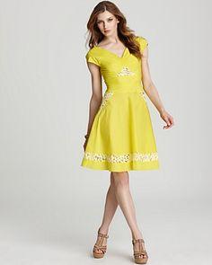Z Spoke Zac Posen Lace Cutout Dress
