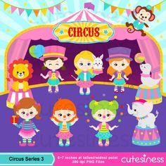 Circo Digital Clipart imágenes prediseñadas de por Cutesiness