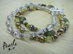 Piece of My Heart - genuine stone multi-strand bracelet