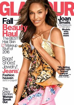 Joan Smalls Covers Glamour Magazine's October 2016 Issue