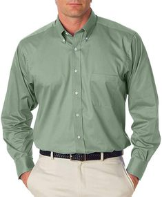 d52c19b4caf Van Heusen Mens Long Sleeve Button Down Baby Twill Dress Shirt - Colors (L