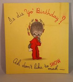 Racist birthday cards images birthday cards ideas other gallery of racist birthday cards bookmarktalkfo Gallery