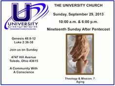 Sunday, September 29, 2013 at The University Church.