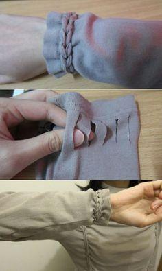 MANGA acortada - una hermosa manera de tejer! Acortado ligeramente, pero por un máximo de un par de centímetros! Parece interesante e inusual! .. / Redimensionar /