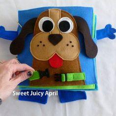 Buckle the Dog Collar Quiet Book Page por SweetJuicyApril en Etsy Más