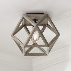 Weathered Wood Cage Ceiling Light Weathered Wood Cage Ceiling Light - Shades of Light Ceiling Light Shades, Glass Ceiling Lights, Ceiling Light Fixtures, Bedroom Light Fixtures, Lighting Shades, Hallway Ceiling Lights, Hallway Lighting, Rustic Ceiling Lighting, Flush Mount Light Fixtures