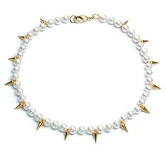 Fallon Linda Pearly Spike Lariat Necklace Mpj8M