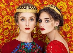 Colorful Portraits Celebrate The Unique Beauty Of Slavic Folklore By Combining Traditionalism With High-Fashion