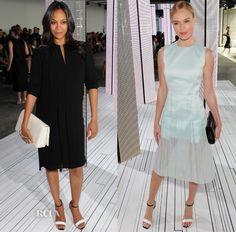 Zoe Saldana and Kate Bosworth - At BOSS Spring 2015 show @ New York Fashion Week.  (September 2014)