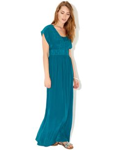 Lori Embroidered Maxi Dress