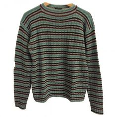 Multicolour Wool Knitwear Sweatshirt PRADA ($250) ❤ liked on Polyvore featuring tops, sweaters, shirts, jumpers, multi color tops, colorful shirts, prada, woolen shirts and wool tops