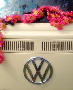 why not try a flower chain on your groovy festie bus?
