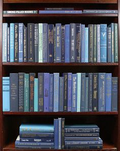 We've Got the Blues (Books by Color). With rich blue bindings, these modern cloth hardbacks range from powder blue to midnight blue and are in very good to new condition. These books are perfect for interior decorating, model/vacatio Blue Aesthetic Pastel, Aesthetic Colors, Book Aesthetic, Aesthetic Pictures, Bedroom Wall Collage, Photo Wall Collage, Picture Wall, Photo Bleu, Bleu Pastel