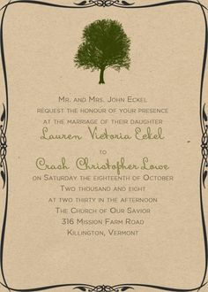 Rustic Chic Wedding Invitations - Rustic Wedding Chic