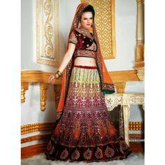 New Bridal Lehanga choli Latest Fashion Diwali Gifts 316 - Online Shopping for Lehnga by SAREEZ HOUSE