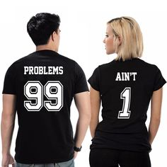 Problems 99 Aint 1 – Couples T-Shirts Diy Couples Costumes, Girl Costumes, Vinyl Shirts, Old T Shirts, Couple Outfits, Couple Clothes, Powerpuff Girls Costume, Cute Halloween Costumes, Halloween Ideas