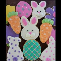 More Easter Cookies #sugarcookies #decoratedcookies #easter #eastercookies #bunnies #easteregg #cookies