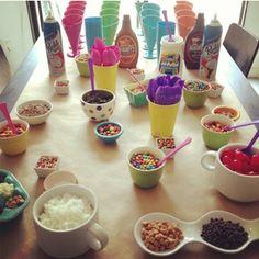 Birthday Sundae Bar: All the ingredients for a perfect sundae bar #PreppyPlanner