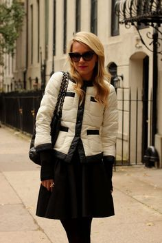 a chanel inspired winter coat-i want it! but can't find it.  it's not as expensive as you'd think.  joe fresh-only 40 bucks. but their site didn't have it when i checked. on a mission to find it!