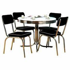 5-Piece Sandra Dining Set in Black