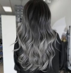 hair inspiration grey These Are The 10 Supreme Beauty Trends in 2019 Ecemella grey ombre hair - Ombre Hair Silver Ombre Hair, Dark Ombre Hair, Ombre Hair Color, Blonde Ombre, Dark Hair, Black To Grey Ombre Hair, Blonde Wig, Dark Silver Hair, Ash Grey Hair