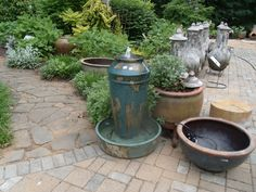 Great patio or deck fountain. Along the Garden Walk at Southern Grace.