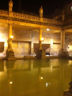 The Roman Baths are one of the finest historic sites in Northern Europe. The Roman Baths is below the modern street level and has four main features, the Sacred Spring, the Roman Temple, the Roman Bath House and finds from Roman Bath. #Romantemple #RomanBath #Bath #SacredSpring  http://www.romanbaths.co.uk/
