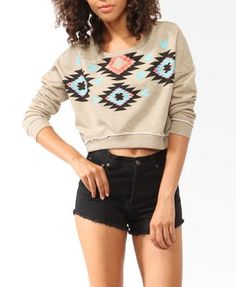 Cropped Geo Top | FOREVER 21 - 2008585065