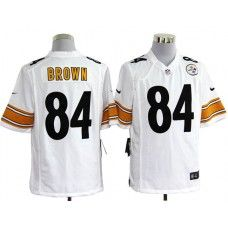 NFL Jersey's Mens Pittsburgh Steelers Antonio Brown Nike White Game Jersey