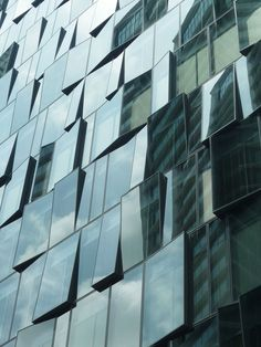 irregular glass facade