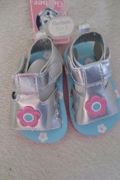 Gerber Chambray Flower MJ Sneaker Infant