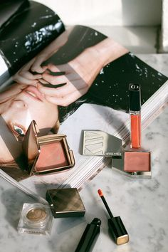 Shopping your stash. Fresh colors for spring. Hourglass Ambient Lighting Blush, Kjaer Weis Cream Blush, Chanel Rouge Allure Extrait de Gloss, Dior Rouge Dior Brillant, Burberry Eye Colour Cream - teetharejade.com