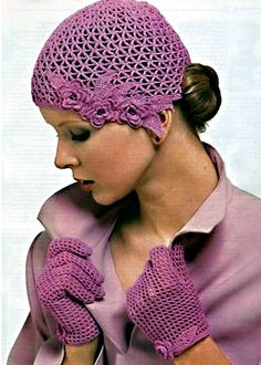 Волшебные петельки: Вязаная модель шапочки и перчаток.