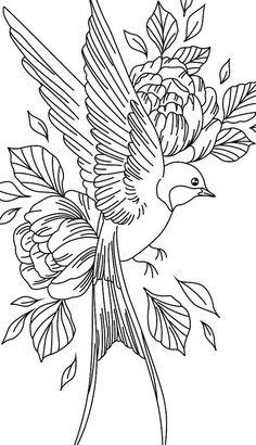 Pencil Art Drawings, Bird Drawings, Art Drawings Sketches, Tattoo Sketches, Tattoo Drawings, Tattoo Stencils, Cute Wallpaper Backgrounds, Doodle Art, Art Inspo