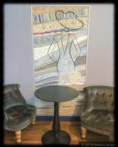 The mosaic artwork in the foyer of our Paris hotel #paris #travel #vacation #europeadventures #parishotel #hotelmademoiselle #mosaic #mosaicart #nofilter