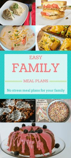 Easy Family Meal Plans Week 7 – Budget Girl