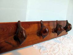 Carved Wood Duck Hat Or Coat Rack / Duck Hat Rack / Man Cave Decor