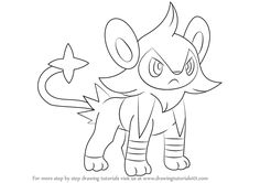 luxio is a feline quadruped character from pokemon it is like lion in this