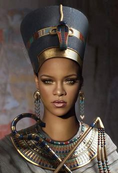 Rihanna as a egypt queen