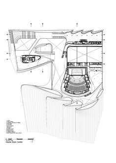 1st Floor Plan -> Heydar Aliyev Center / Zaha Hadid Architects