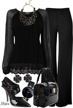 """Just Black"" by mrsbro on Polyvore"