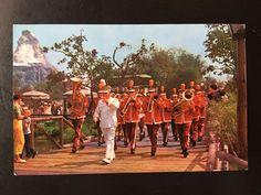 Vintage Disneyland Main Street U.S.A. Postcard - Disneyland Band and Matterhorn by VintageDisneyana on Etsy