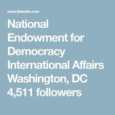National Endowment for Democracy International Affairs  Washington, DC  4,511 followers