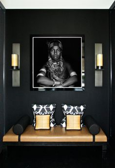 22 ideas bedroom black yellow interior design for 2019 Foyer Design, Entry Way Design, Design Bedroom, Interior Styling, Interior Decorating, Foyer Decorating, African Interior Design, Modern Entryway, Modern Wall