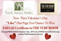 We're getting ready for #Valentine's Day with a great giveaway! Like us on Facebook and you could win a $40 gift card to The Turf Room.