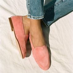Women Casual Daily Suede Loafer Shoes – cuteshoeswear loafers outfit work loafers outfit fall loafers with socks loafers style loafers for women outfit Loafers For Women Outfit, Flat Shoes Outfit, Loafers Outfit, Casual Loafers, Outfit Work, Loafers With Socks, Women's Loafer Flats, Slip On Espadrilles, Suede Loafers