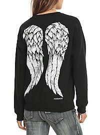 HOTTOPIC.COM - The Walking Dead Daryl Wings Girls Pullover
